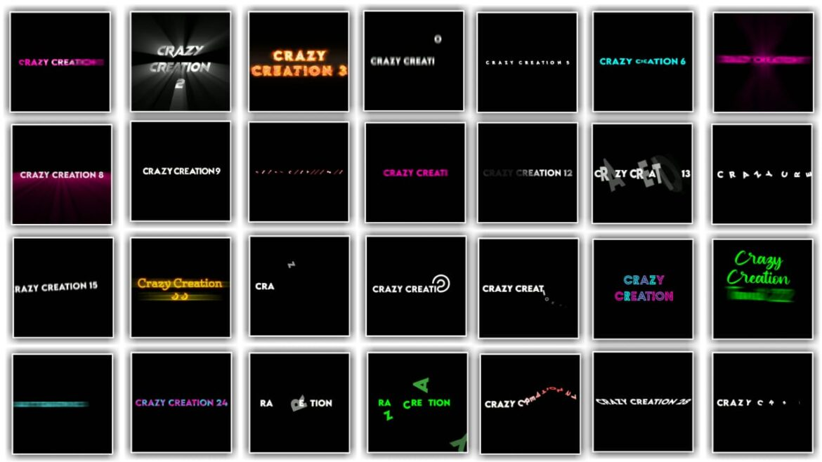 Top 30 Alight Motion Text Animation Preset Download Link