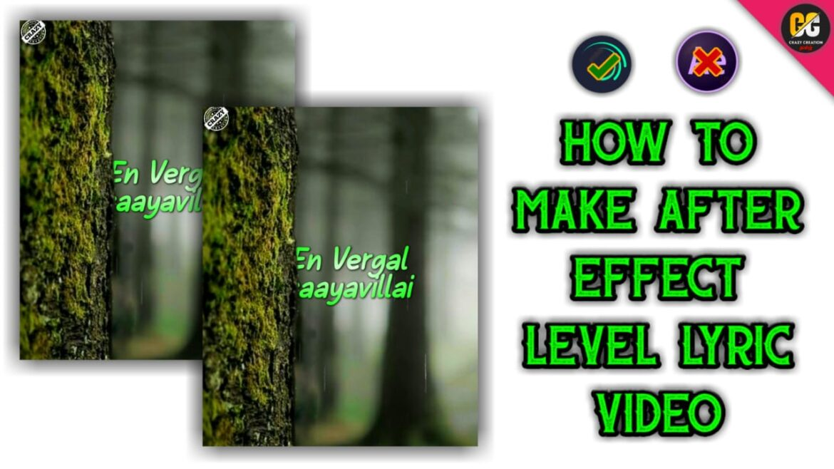 How to Make After effect Level Lyric Video in Alight Motion