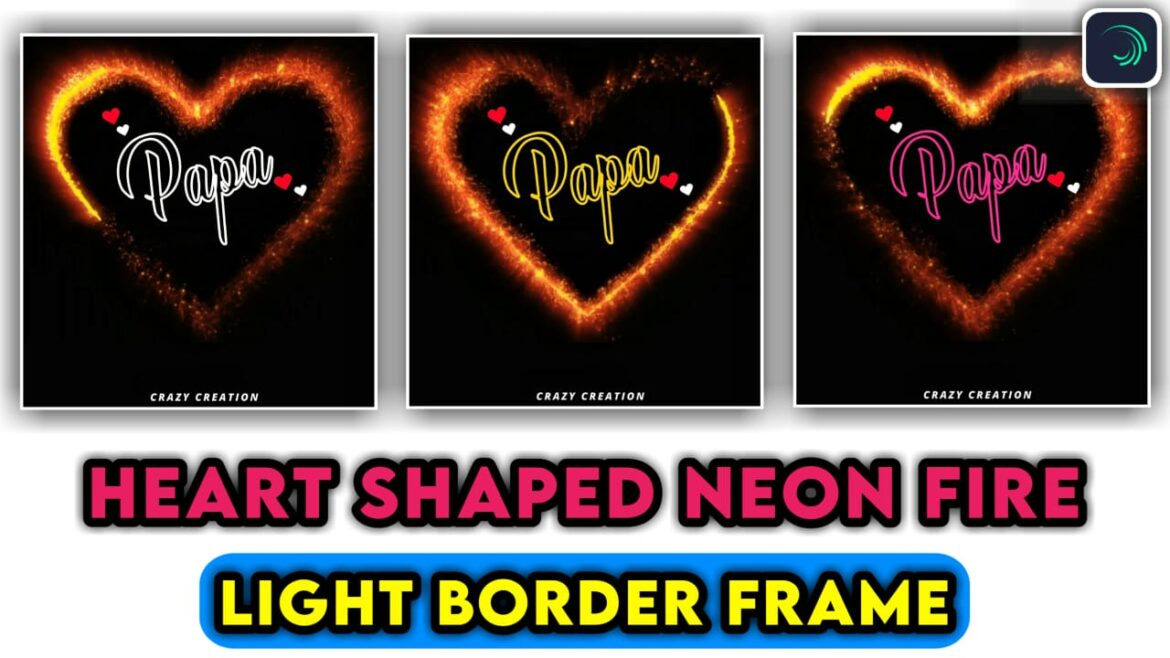 How to Make Trending Heart Neon Shape Effect | crazy creation