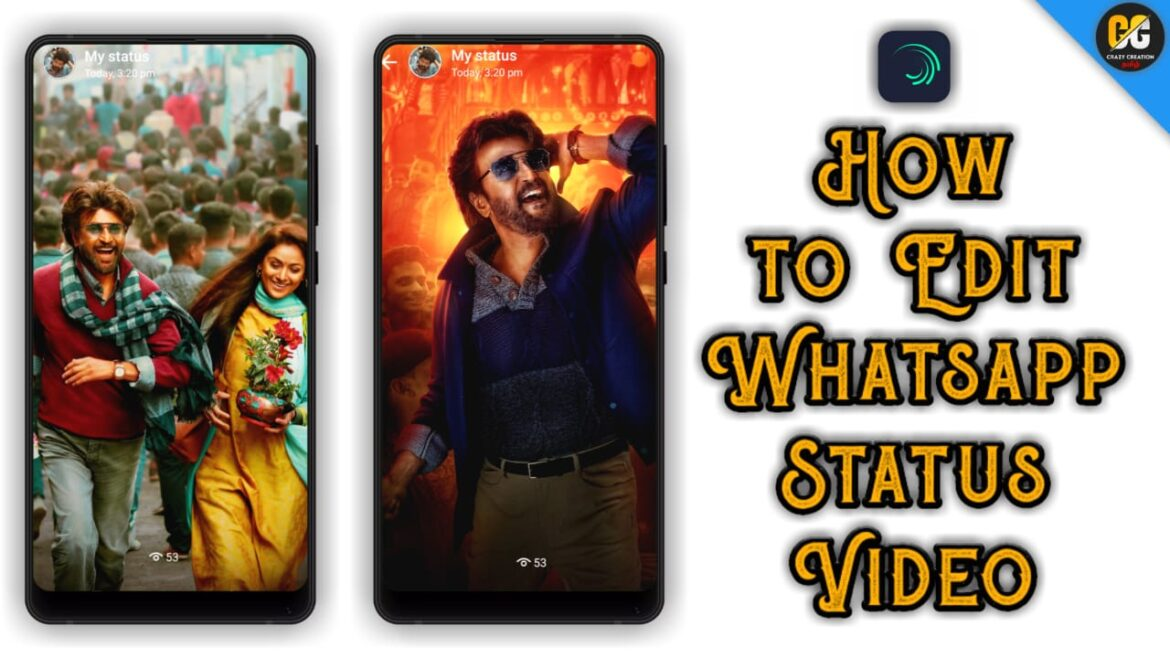 How to edit whatsapp status video in Tamil   Full-screen Video editing   Crazy creation Tamil