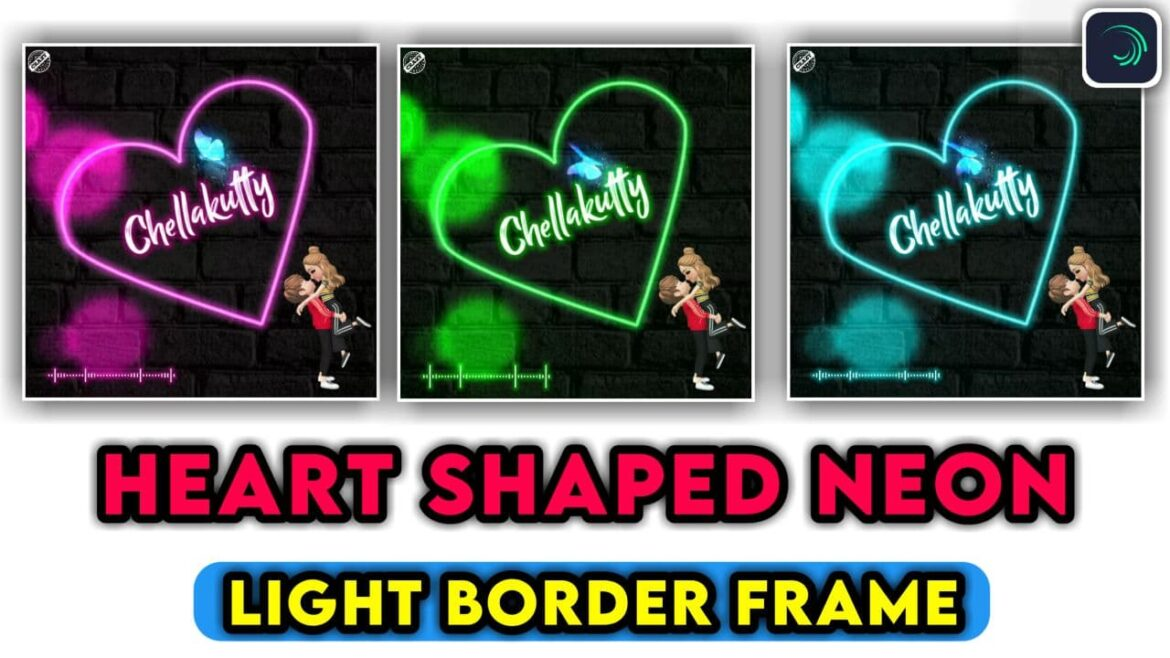 How to Edit Heart Shape Video Effect in Alight Motion | Alight motion